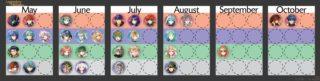 【FEH】5月~10月までの伝承・神階英雄ガチャキャラ予定まとめ。エーデルガルト再登場はスラシルと共に7月だ