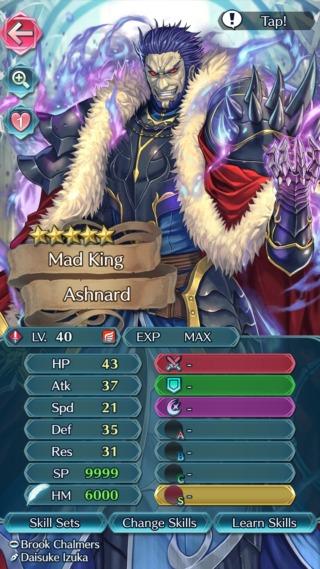 【FEH】アシュナードは飛行特攻を無効にする専用武器『グルグラント』持ち!! 速さは低いが攻撃耐久ともに優秀だ